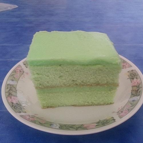 Pandan Kaya Slice Cake