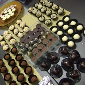 chocolate pralines, truffles