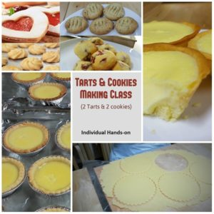 butter cookies and tarts making