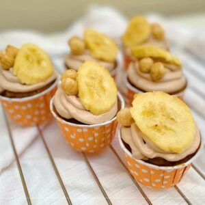 Sugarless Banana Cupcakes